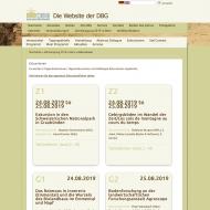 Tagungswebsite DBGes