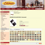 Lamee Onlineshop, Farbauswahl
