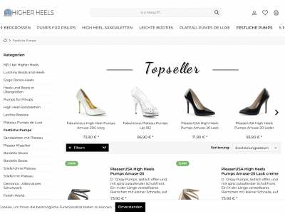 Website Higher Heels
