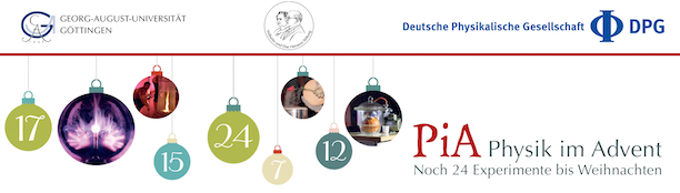 Headerbild der Website Physik im Advent 2014